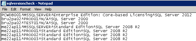 How can I check the version and edition of SQL Server